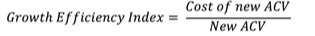 Growth Efficiency Index Formula